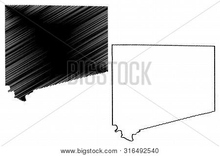 Johnson County, Texas (counties In Texas, United States Of America,usa, U.s., Us) Map Vector Illustr