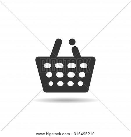 Shopping Basket Icon. Shopping Basket Vector, Shopping Basket Logo, Web Icons, Trolley Icon, Shoppin