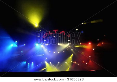 Voltaj pop-rock band on the stage live, Cluj Napoca, Romania