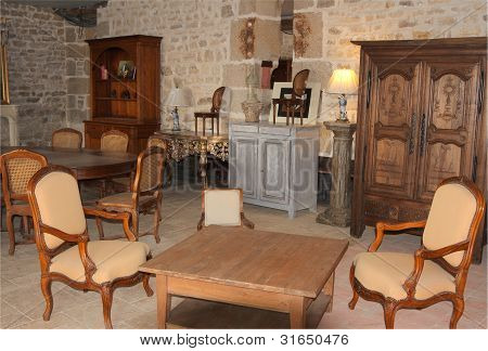 Historic Room With Table And Chairs