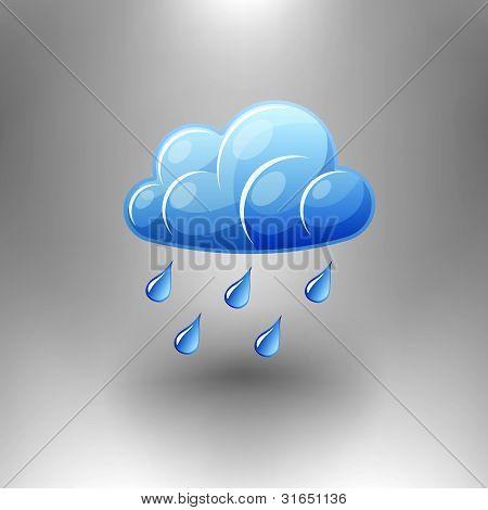 Vector Rain Symbol