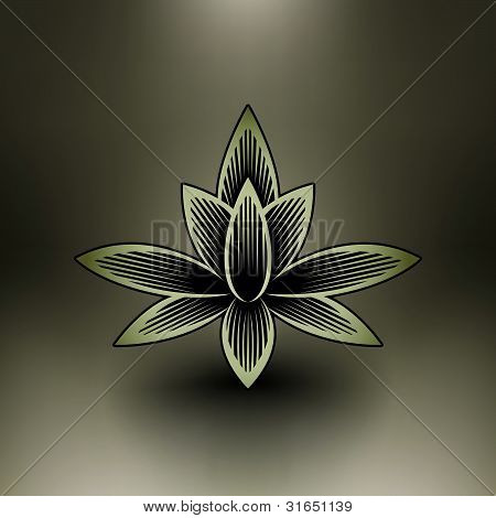 Vector Chinese Lotus Blossom