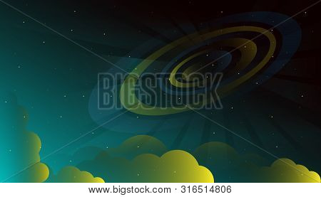Space Starry Galaxy Universe Nebula Vector Illustration