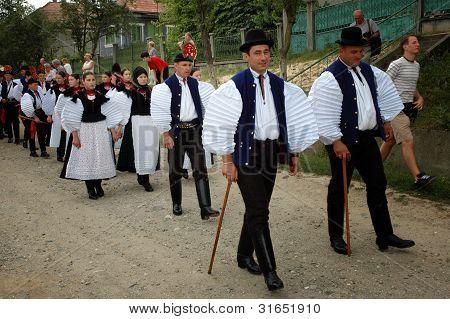Traditional wedding in Sic, Transylvania, Romania