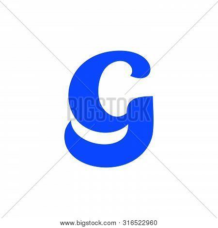 Letter Cg Symbol Linked Curves Logo Vector