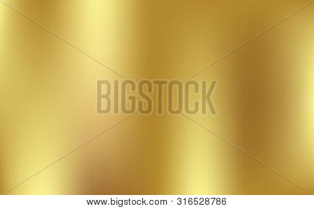 Gold Gradient Background Icon Texture Metallic. Gold Blurred Gradient Style Background. Abstract Lig