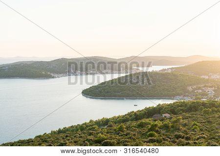 Islands On Sea Wit Sunset - Kornati National Park Croatia