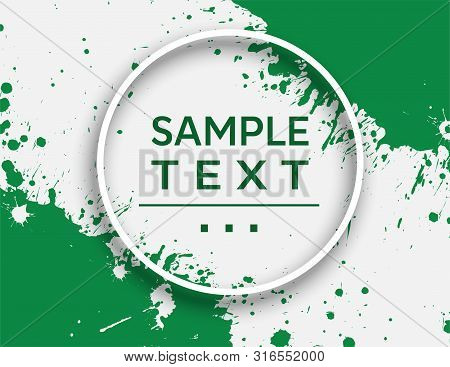 Abstract Design Template With Splash. Vector And Illustration.