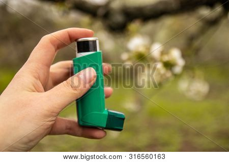 Asthma And Copd Disease Concept. Pharmaceutical Products Is Used To Prevent And Treat Wheezing And S