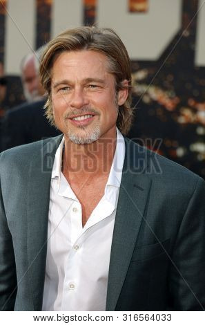 Brad Pitt at the Los Angeles premiere of 'Once Upon a Time In Hollywood' held at the TCL Chinese Theatre IMAX in Hollywood, USA on July 22, 2019.