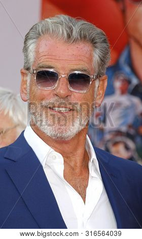 Pierce Brosnan at the Los Angeles premiere of 'Once Upon a Time In Hollywood' held at the TCL Chinese Theatre IMAX in Hollywood, USA on July 22, 2019.