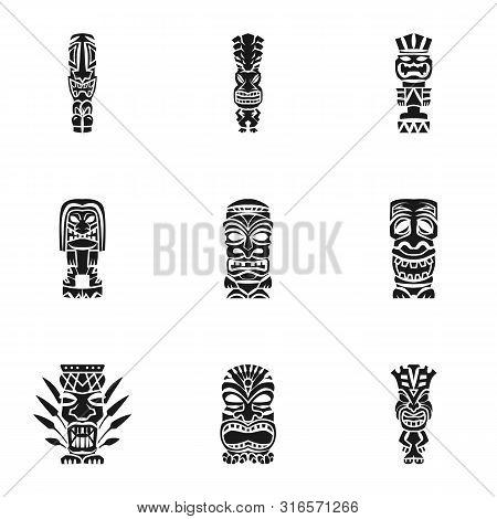 Aloha Idol Icon Set. Simple Set Of 9 Aloha Idol Vector Icons For Web Design Isolated On White Backgr