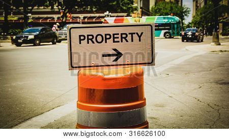 Street Sign To Property