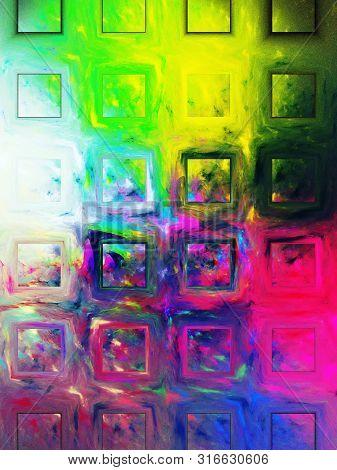 Purple Abstract Fractal Background 3D Rendering Illustration