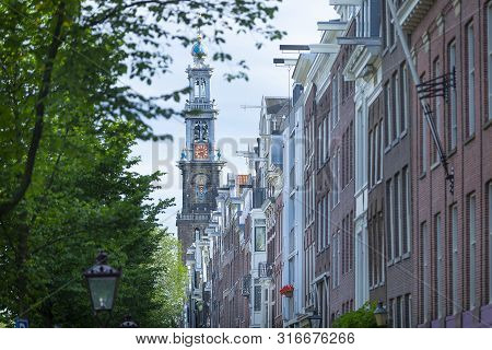 The Old Westerkerk In The Centre Of Amsterdam