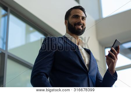 Portrait Of Cheerful Man That Creating Startup