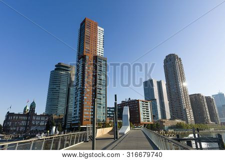 Skyline Of Rotterdam Taken From The