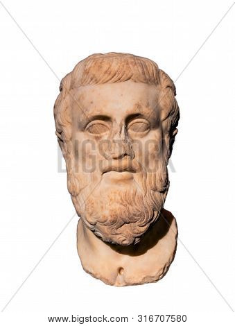 Bust Of Ancient Greek Tragedian Sophocles (498-406) Bc.