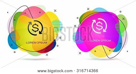 Color Return Of Investment Icon Isolated On White Background. Money Convert Icon. Refund Sign. Dolla