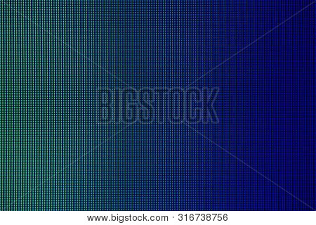 Led Lights From Led Computer Monitor Screen Display For Background. Led Texture Background. Abstract