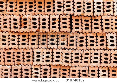 Brick Blocks For Interior Exterior Decoration. Brick Blocks For Industrial Construction Design. Bric