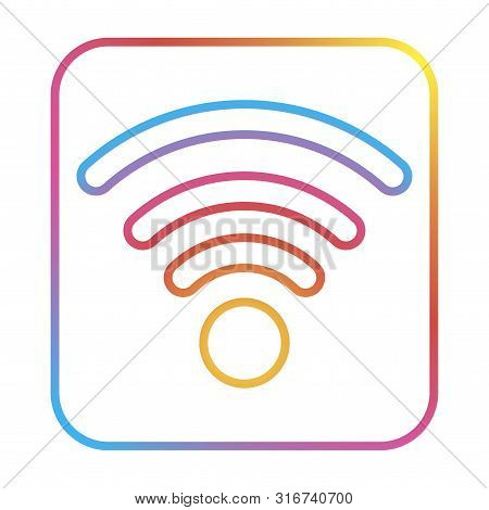 Free Wi-fi Isolated Logo Wireless. Wifi Symbol. For Web Design With Modern Gradient.