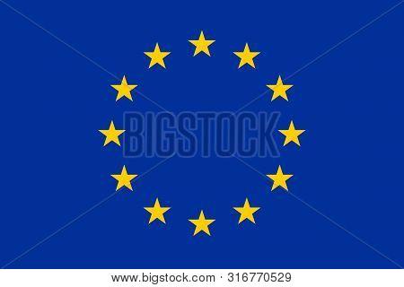 Vector Flag Of European Union. Vector Illustration. Eps 10. Europe