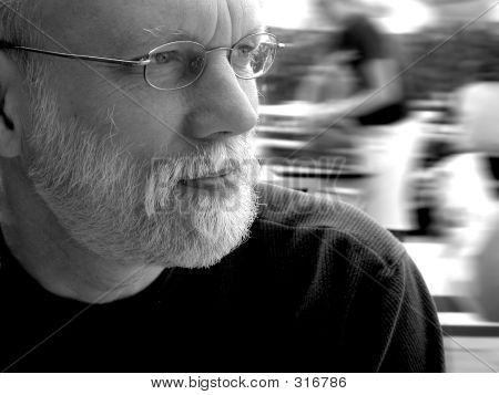 Older Man At Restaurant