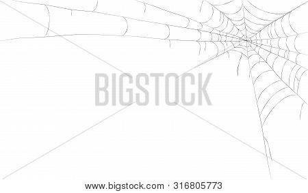 Spiders Web Frame. Vector Illustration, Spiderweb Backgound