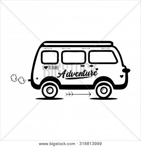 Icon Bus Isolated In White Background, Bus Icons With Cool Style, Trendi Vector Bus