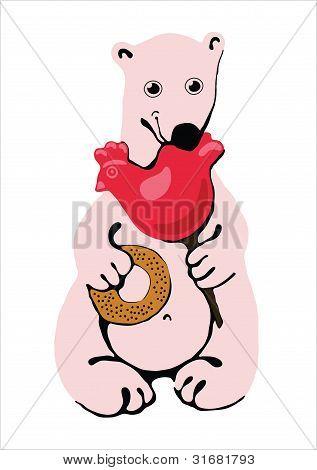 Polar bear. Vector illustration.