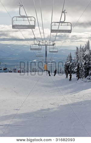 Ski Resort Chairlift View
