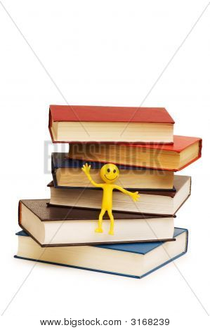Back To School Concept With Books And Smilies