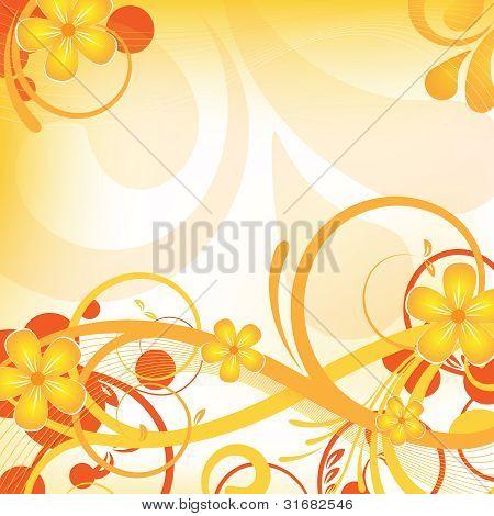Orange Floral Design
