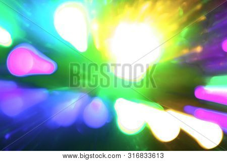 wonderful colorful moving chaplet rays texture - abstract photo background poster