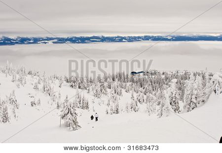 Mountain Ski Resort in Winter
