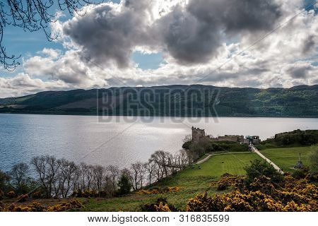 Urquhart Castle, Drumnadrochit, Scotland - 9th May 2019. Urquhart Castle Dates Back To The 13th Cent