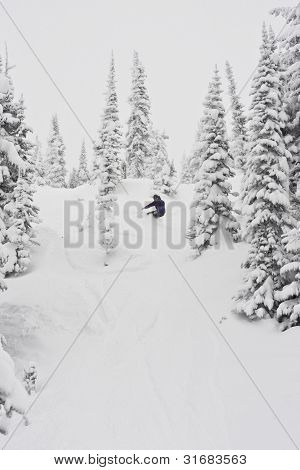 Snowboarding in Blizzard