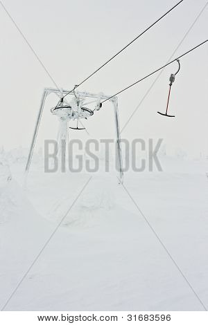 Top of a Ski Resort Tow-Rope
