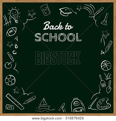 Back To School Banner Background With Copy Space