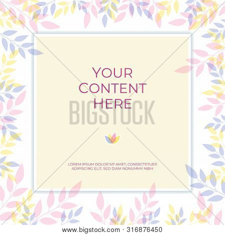 Sweet Pastel Color Background Banner With Copy Space