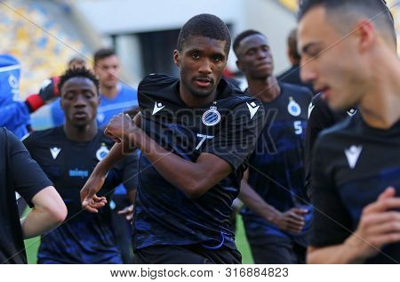Kyiv, Ukraine - August 13, 2019: Clinton Mata Of Club Brugge In Action During The Training Session B