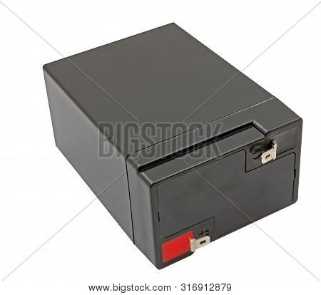 the 6 Volts battery isolated on white background poster
