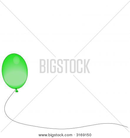 Balloons One Green