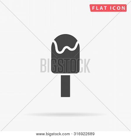 Ice Lolly. Ice Cream. Flat Design Style Minimal Vector Illustration Icon For Web Design