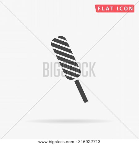 Ice Cream. Flat Design Style Minimal Vector Illustration Icon For Web Design
