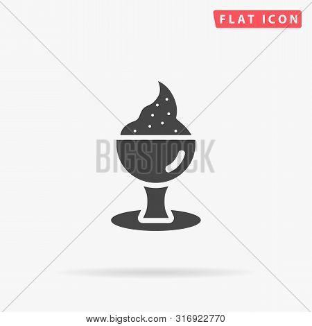 Sorbet. Ice Cream Dessert. Flat Design Style Minimal Vector Illustration Icon For Web Design