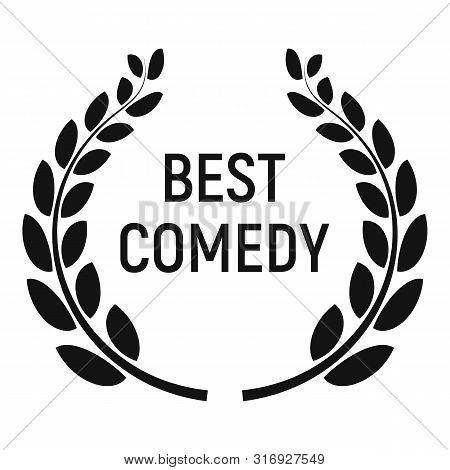 Best Comedy Award Icon. Simple Illustration Of Best Comedy Award Vector Icon For Web Design Isolated