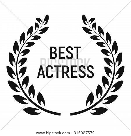 Best Actress Award Icon. Simple Illustration Of Best Actress Award Vector Icon For Web Design Isolat