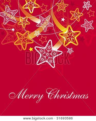 Beautiful Christmas stars background. Vector illustration.